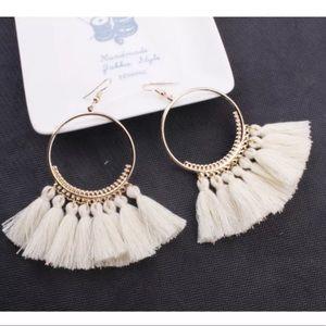Jewelry - 🚨 5/$20 White fringe tassel earrings
